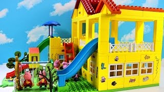 Peppa Pig Blocks Mega House Construction Set With Water Slide Lego Building #7