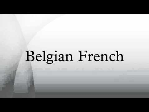 Belgian French