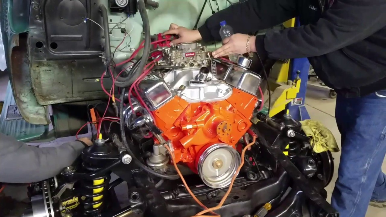 53 GMC pickup v8 and mustang II front end swap - YouTube
