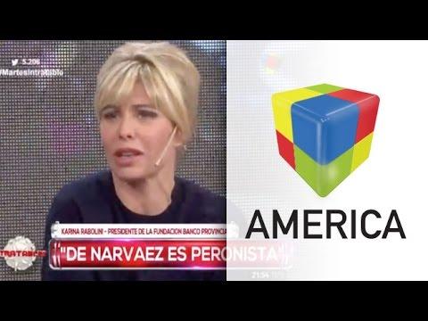 Karina Rabolini y el sorpresivo apoyo de De Narváez