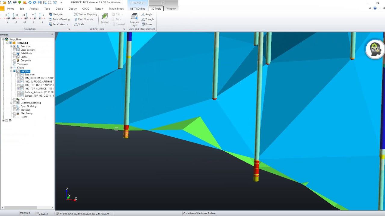 NETPRO/MINE Help Videos - Bottom Surface Correction Operations