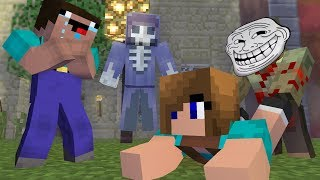 Minecraft NOOB Girl vs NOOB Boy| ZOMBIE APOCALYPSE | Noob love Noob girl ( 7 ) - Minecraft Animation