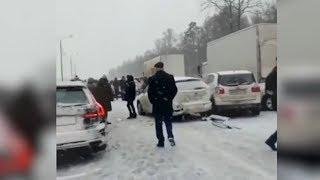 Почти 20 автомобилей столкнулись на федеральной трассе М-4 «Дон»