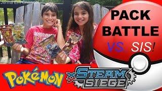 Pokemon XY Steam Siege Pack Battle VS. My Sister! Jenna Em Channel