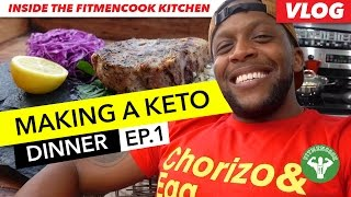 Vlog: Making A Keto Dinner - Pork Loin & Mash EP.1 / Cena Cetogenica - Lomo de Cerdo