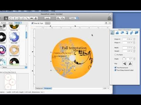 Mac CD DVD Label Maker. How to make mac cd/dvd disc labels easily.