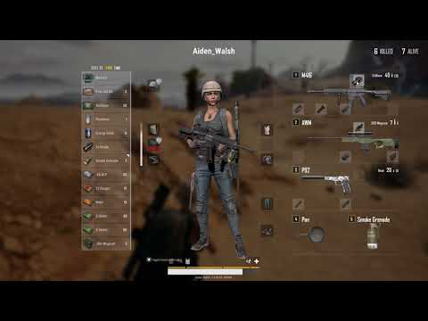 Wow! Look at the buildup to this PUBG chicken dinner! So skillfull, what a cool guy.