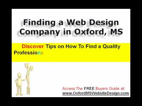 Oxford MS Web Design - Choose The Best Web Designer In MS