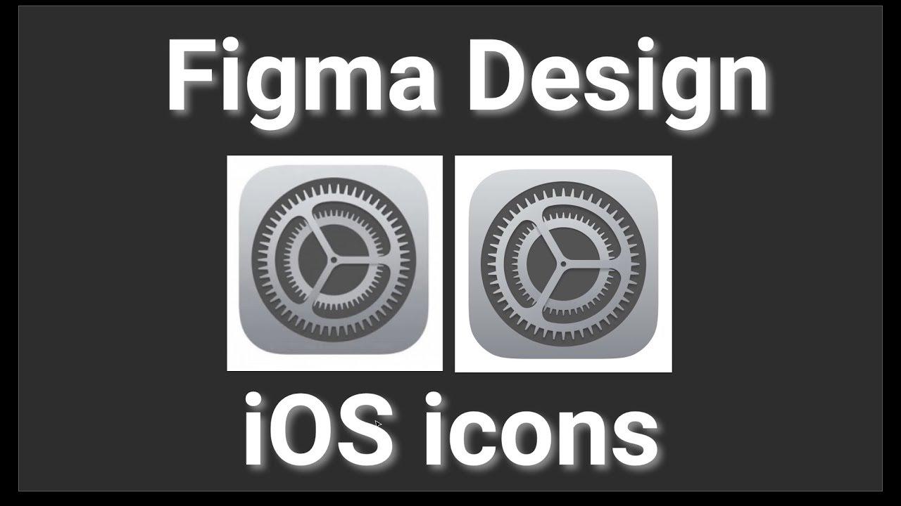 iOS settings icon in Figma