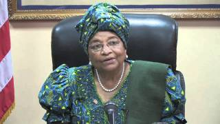 President Ellen Johnson-Sirleaf discusses the security situation in Liberia