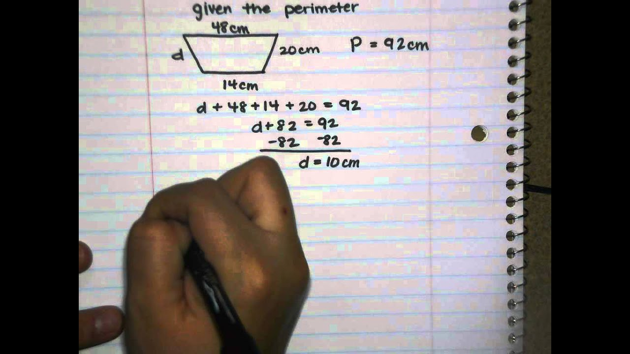 7th grade item 7 perimeter and area of trapezoids 1 of 2 youtube 7th grade item 7 perimeter and area of trapezoids 1 of 2 robcynllc Images