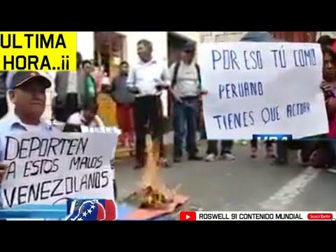 """FUERA VENEZOLANOS"" Grupo De Peruanos Queman BANDERA VENEZOLANA De Manera Xenofobica"
