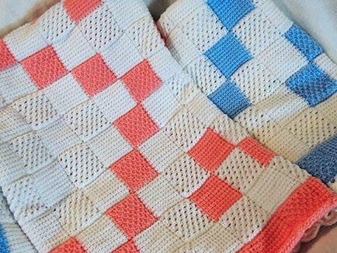 Crochet tunecino manta de bebe 2 youtube - Mantas de bebe hechas a ganchillo ...