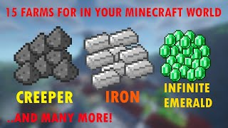 (15 farms) The Ultimate Minecraft FARM Guide [From Early-Game to End-game]