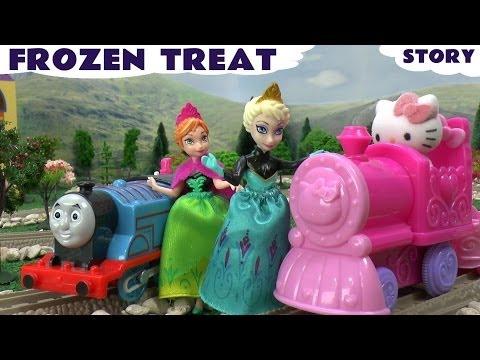 Disney Frozen Play Doh Princess Anna Queen Elsa Thomas The Tank Engine Hello Kitty Story Playdough