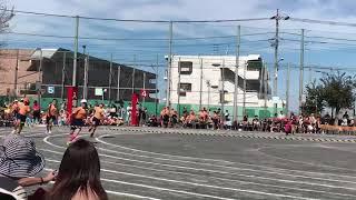 野火止小学校 2019 運動会 5年生の徒競走 2コースの白帽子 ピンクのハイソックスです‼️
