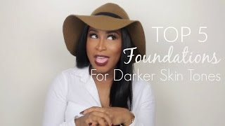 Top 5 Foundations For Darker Skin Tones