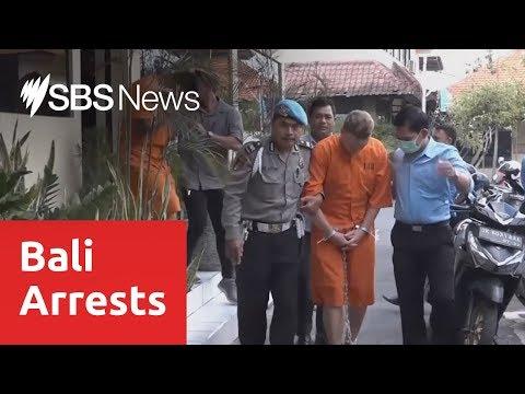 Indonesian police parade Australians facing drug allegations