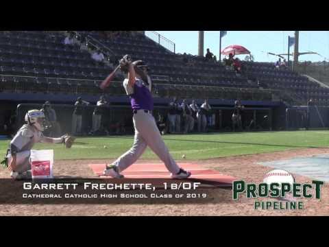 Garrett Frechette Prospect Video, 1b, Cathedral Catholic High School Class of 2019