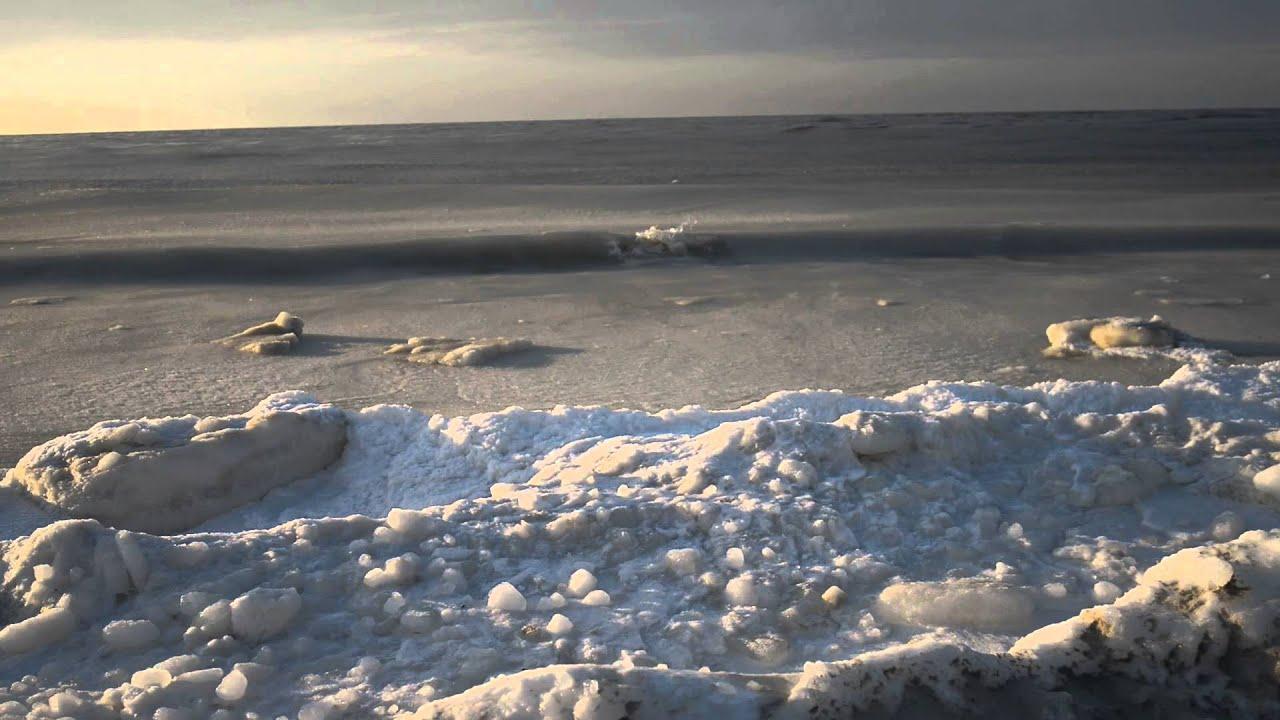 Icy Waves At Robert Moses State Park