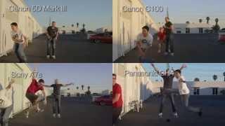 sony a7s vs gh4 vs c100 vs mark iii camera shootout episode ii slow motion