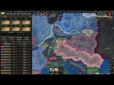 Hearts of Iron 4 timelapse MAKE HUNGARY GREAT AGAIN