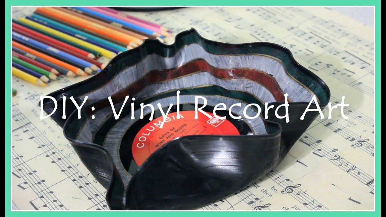 DIY: Vinyl Record Art - YouTube