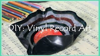 DIY: Vinyl Record Art