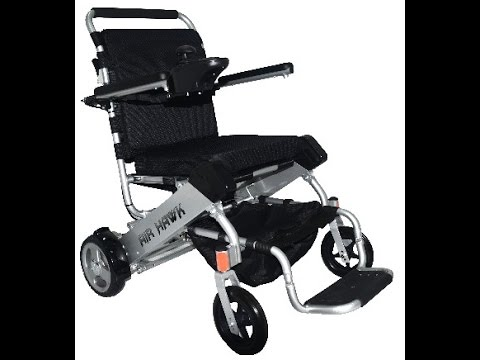 AirHawk Folding Wheelchair Extended Overview