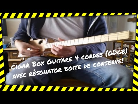 Cigar Box Guitare 4 cordes