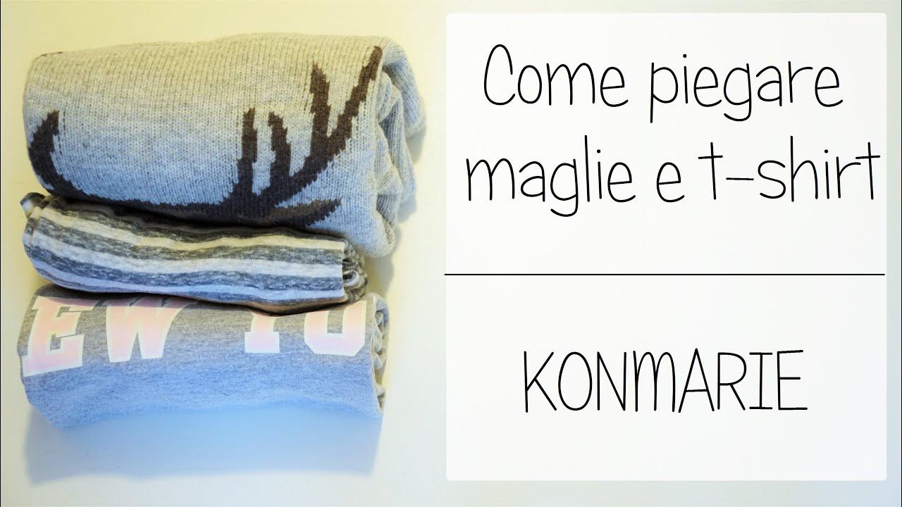 Come Piegare Un Maglione.Piegare Maglie E T Shirt Marie Kondo Youtube