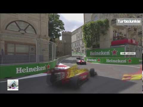 F2 2017 Azerbaijan GP Charles LeClerc Winning Team Radio