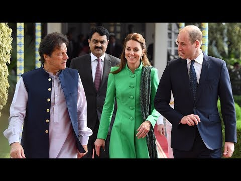 video: 'I was a big fan of my mother too': Duke and Duchess of Cambridge visit school as they follow Diana's footsteps in Pakistan