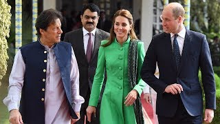 Duke and Duchess of Cambridge visit school as they follow Diana's footsteps in Pakistan