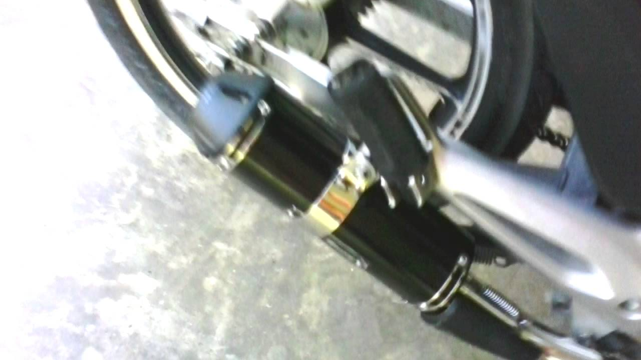 my honda wave 100r apido racing exhaust - youtube