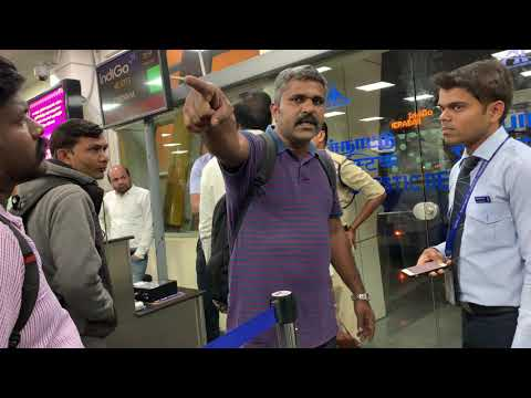 Flights Delayed At Coimbatore Airport. A man fights with IND
