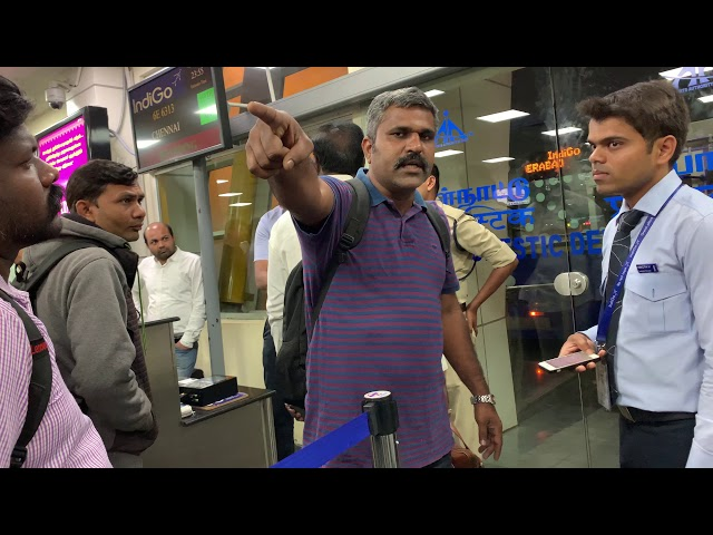 Flights Delayed At Coimbatore Airport. A man fights with INDIGO STAFF. Must watch.  HUGE FIGHT 