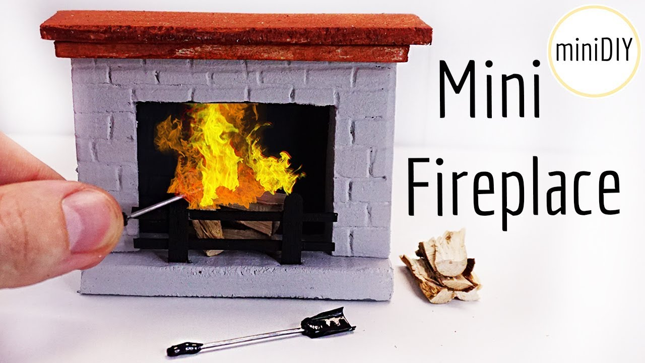 Diy miniature fireplace tutorial dollhouse minidiy - Put out fire in fireplace ...