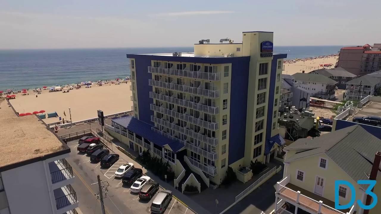Aerial Video Of Howard Johnson Oceanfront Plaza Boardwalk Hotel In