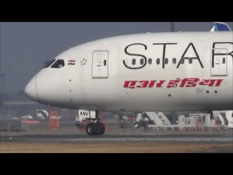 ◇非常に珍しい!成田2度目の飛来?◇Air India STAR ALLIANCE B787-9 VT-ANU Rwy34L Takeoff◇成田空港◇nrt hhh