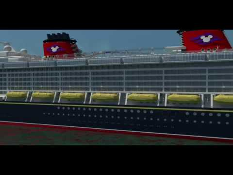 Side View Of The Disney Dream Cruise Ship