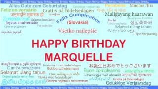 Marquelle   Languages Idiomas - Happy Birthday