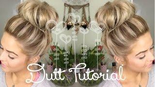 Alltagsfrisur: Dutt, auch bei kürzeren Haaren (einfach & schnell) I MeDelia