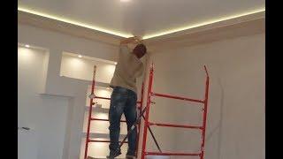 Скрытая подсветка потолка своими руками: как спрятать правильно, видео-, фото-инструкция