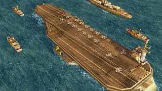 US Carrier Task Force Naval Landing & Invasion | Command & Conquer Generals Zero Hour Gameplay