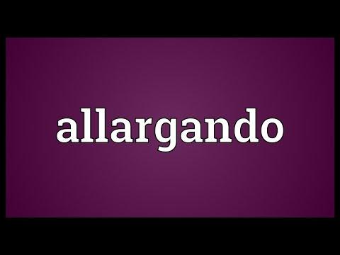 Header of allargando