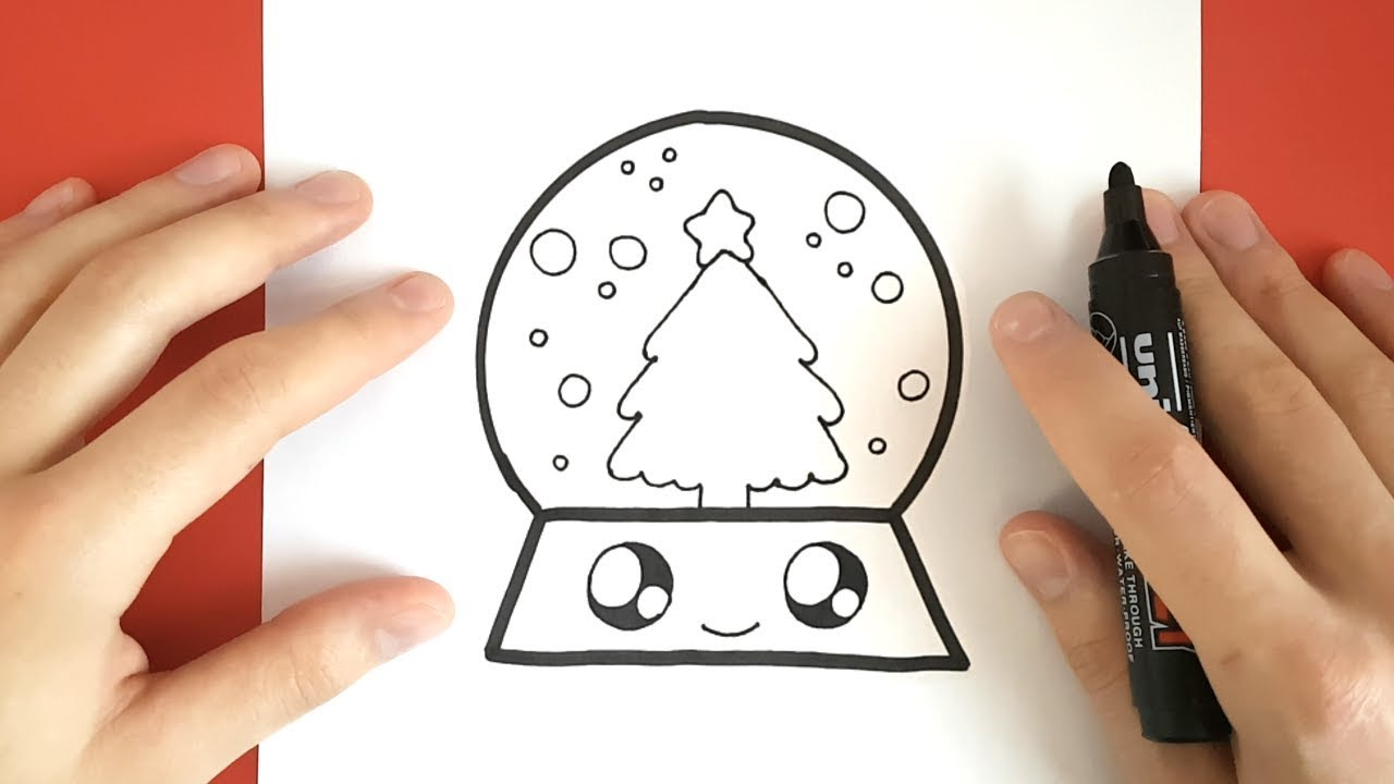 How To Draw A Snow Globe Cute And Easy Youtube
