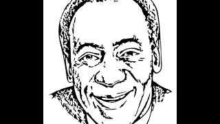 How to draw Bill Cosby face sketch drawing step by step