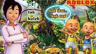 Upin Ipin goes to ZOO Sweetheart (Zoo) but Kak ROS Mala angrily-Roblox Upin Ipin