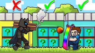 CHOOSE The SECRET PLURAL LUCKY BLOCK DOOR In Minecraft! - Lucky Block Doors Mini-Game
